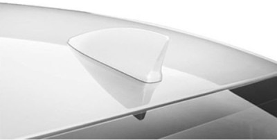 AutoStark Decorative Fin Shaped Antenna - White Whip Vehicle Antenna