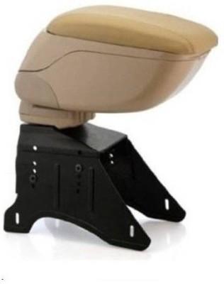De AutoCare Universal Console Box Sliding Top Storage Beige Color Car Armrest(Universal For Car, Universal For Car)