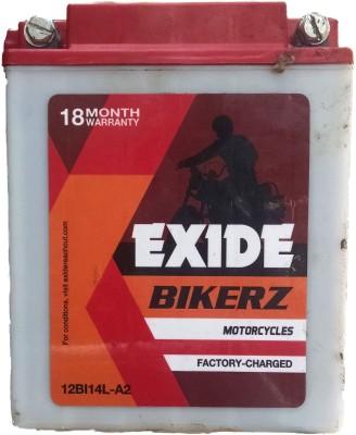 EXIDE Bikerz 12V 14AMP 14 Ah Battery for Bike