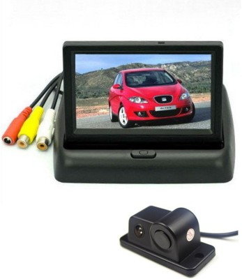 Alria 2 in1 Car Parking Sensor Reversing Radar Rear Camera & 4.3,, Rearview TFT LCD Monitor Vehicle Camera System