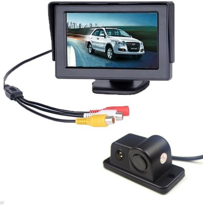 Alria 2 in1 Car Parking Sensor Reversing Radar Rear Camera with 4.3,, LCD TFT Monitor AL8058PSSM Vehicle Camera System