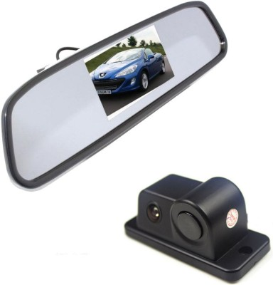 Alria 2 in1 Car Parking Reversing Radar Rear Camera with 4.3,, Rearview LCD TFT Monitor Vehicle Camera System