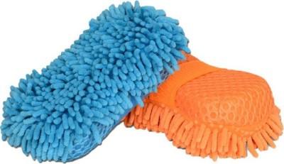 Truelinks Microfibre Glove Sponge Mitt Sponge(Pack of 2)