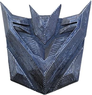 Unique Shape Transformers Decepticons 3D car logo Universal For Car Emblem