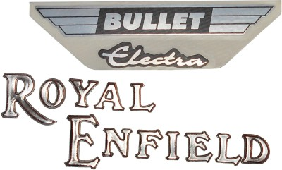 RMCO PETROL TANK MONOGRAM SET OLD TYPE FOR R.E. CHROME PLATED SET OF TWO Royal Enfield Emblem