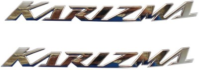 KASCN PETROL TANK MONOGRAM/ BADGE CHROME PLATED COLOUR SET OF TWO Hero Emblem