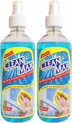 Cleanmax 500ml spray (Pack of 2) ( All Purpose Cleaner ) Orange Fragrance. Liquid Vehicle Glass Cleaner