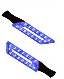 BOTAUTO Front, Rear LED Indicator Light for Royal Enfield 350 Twin Spark(Blue)