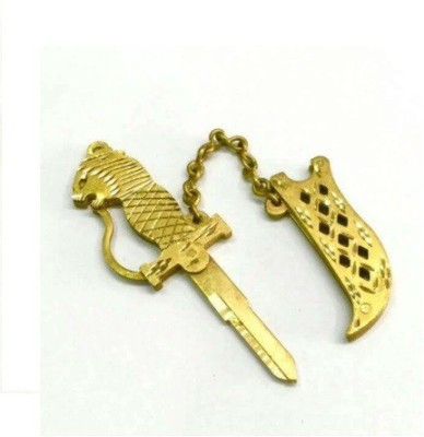 KEYZONE.IN brass key suitable for Hero / Royal Enfield right cut keys Motorbike Key Cover