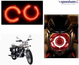 Speedwav Halo CCFL Tube Angel Eyes Light RED - Bullet Electra EFI Motorbike CFL Bulb