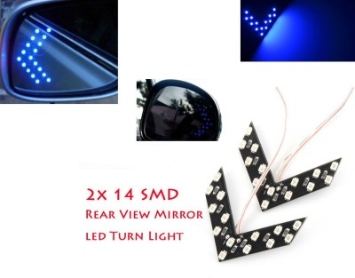 Shoppers Paradise Blue LED Vehicle Mirror Light