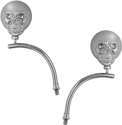 Speedwav Chrome Skull Face Set of 2-Suzuki Sling Shot Plus Manual Rear View Mirror