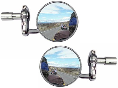 Speedwav Manual Rear View Mirror For Royal Enfield Classic Chrome(Left, Right)