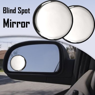Speedwav Car Blind Spot Convex Side Black Corner Set of 2 Manual Rear View Mirror