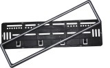 DG silver border car black plate frame C...