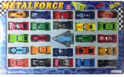 Khareedi Die Cast Metal Force Car Set - 25 Pieces