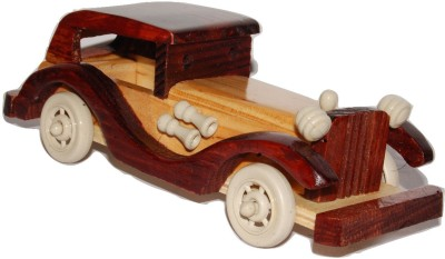 Kfore 10 Inch Classic Vintage Wooden Toy Car