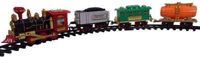 Shop & Shoppee Battery Operated Smoke Emitting Classical Choochoo Train With Light & Sound