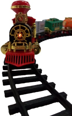 SMT Battery Operated Light Sound Smoke Choochoo Classical Train Track Set For
