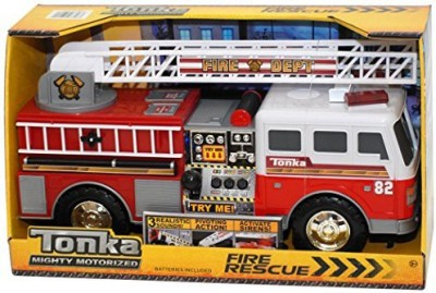 Tonka Mighty Motorized Fire Rescue Truck Red And White