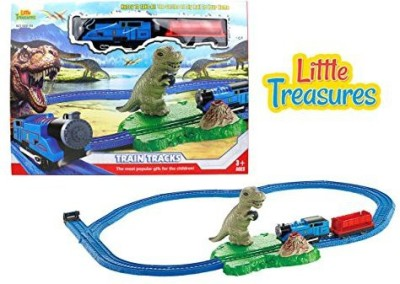 Little Treasures Electric Train Toy With Light Sound And Tracks