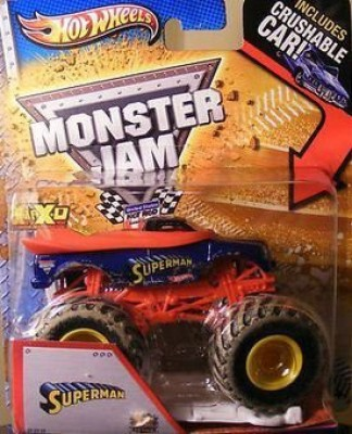 Hot Wheels Monster Jam (2013) Superman Mud Truck (Includes Crushable