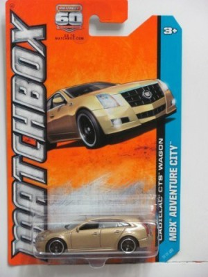 Mattel Matchbox Mbx Adventure City Cadillac Cts Wagon Gold 52