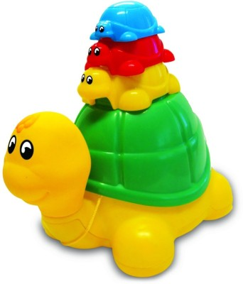 Funskool Pull Along-Ride N Hide Turtle(Multicolor)