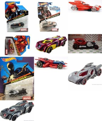 Hot Wheels Marvel Vehciles Collection Of 10