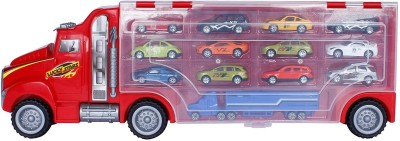 Buds N Blossoms Jumbo Truck Carrying Case With 13 Diecast Vehicle