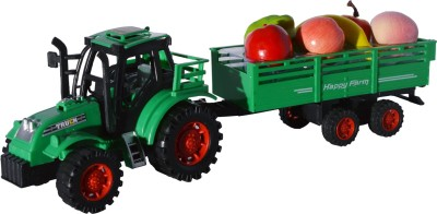 Toyzstation Tractor With Fruits Trolley