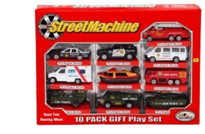 Turban Toys Street Machine Super Fast Set Of 10 Cars
