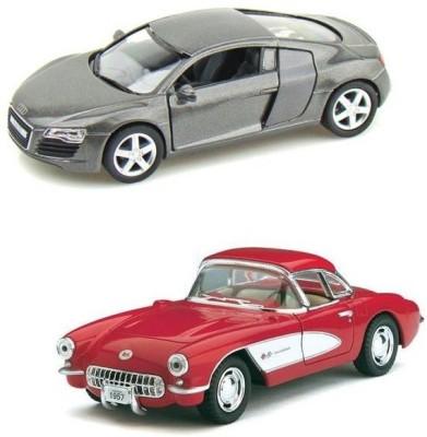 Kinsmart Audi R8 and Chevrolet Corvette 1957