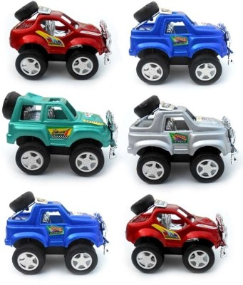 Smartkshop Mini Racing Wild Jeep 6Pcs Combo Pack