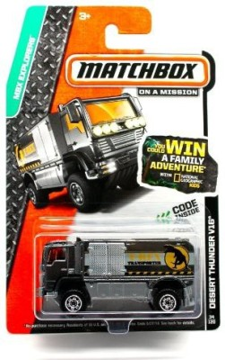 Matchbox Desert Thunder V16 (Dark Gray) 2014 Mbx Explorers 164