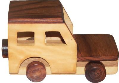 ZoneMart Wooden Jeep