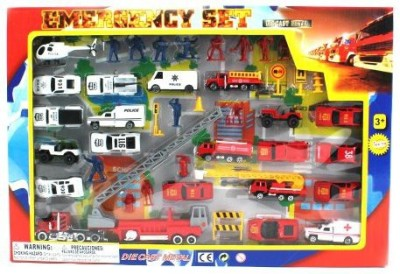 Metro Police Force & Fire Rescue Emergency Crew 44 Piece Mini