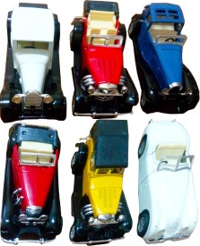 Instyle Vintage Classic Pull along Cars(Red, White, Yellow, Blue)
