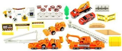 Toy Vehicle Playsets Supreme Construction Site 40 Piece Mini Diecast Playset