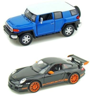 Kinsmart Toyota FJ Cruiser and Porsche GT3