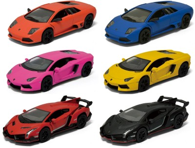 Mayatra's Kinsmart Combo Of Matte Lamborghini & Veneno 6 Cars