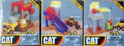Toystate 3 Sets Of Caterpiller Play Set/ Rock Mover/Gravel