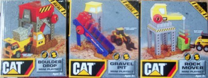 Toystate 3 Sets Of Caterpiller Play Set/ Rock Mover/Gravel(Multicolor)