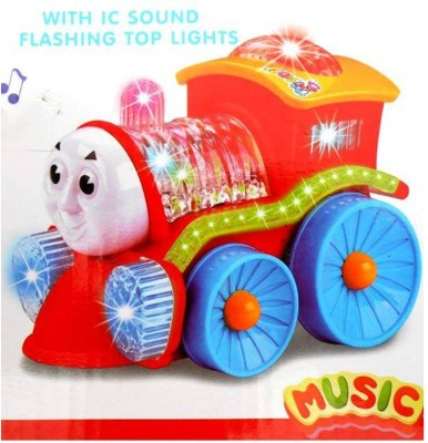 Turban Toys Toy Train Engine With Lights, Bump And Go Action