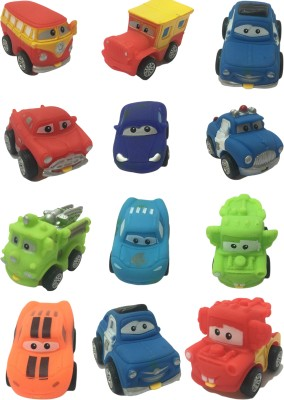 Bento Safety Rubber Speed Mini Pull Back Action Cars Set