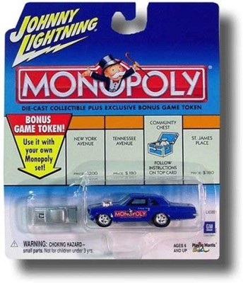 Playing Mantis Johnny Lightning 2001 Monopoly Park Place Pontiac Tempest