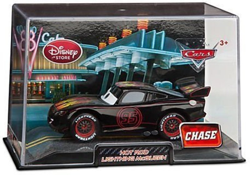 Disney Pixar Cars Diecast 143 Scale Hot Rod Lightning Mcqueen Chase(Multicolor)