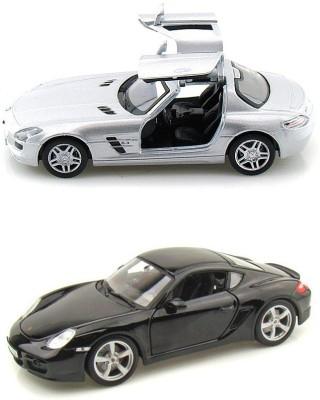 i-gadgets Kinsmart Mercedes SLS Amg and Porsche Cayman S