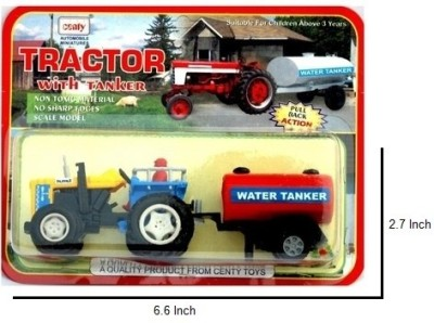 Centy tractor with tanker(yellow , red)