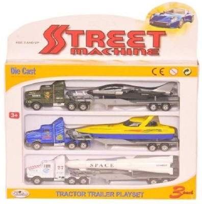 Shop & Shoppee Truck Trailer Playset with Plastic Parts
